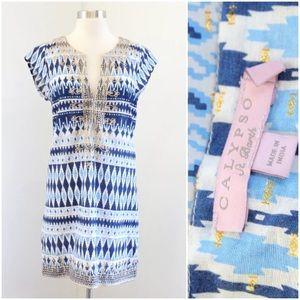 Calypso St Barth Embroidered Tunic Dress